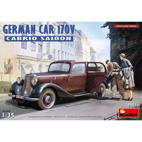 MiniArt German Car 170V Cabrio Saloon makett