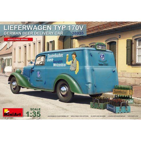 MiniArt Lieferwagen Typ 170V German Beer Delivery Car makett
