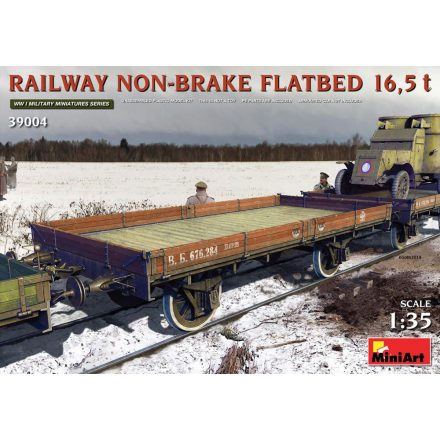 Miniart Railway Non-brake Flatbed 16,5t makett