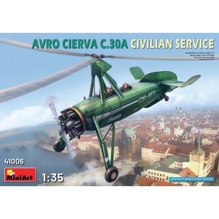 Miniart AVRO CIERVA C.30A CIVILIAN SERVICE makett