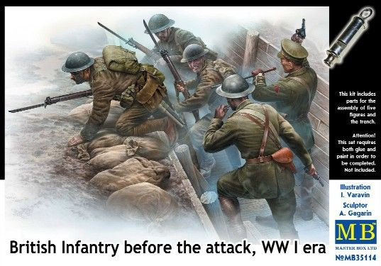 Masterbox British Infantry before the Attack WW1