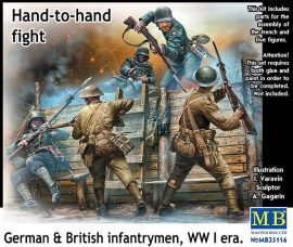Masterbox Hand-to-hand fight, German-British infant infantrymen, WWI