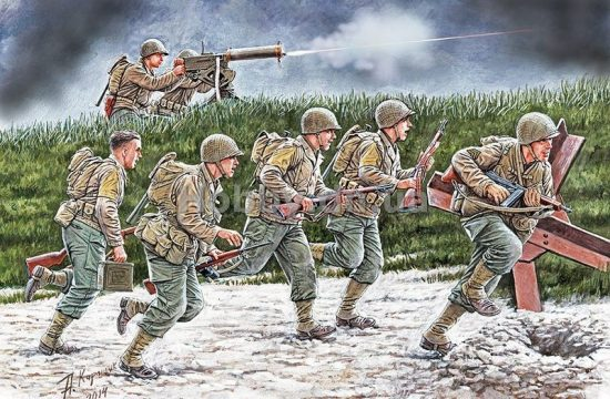 Masterbox US Soldiers, Operation Overlord Period, 1944