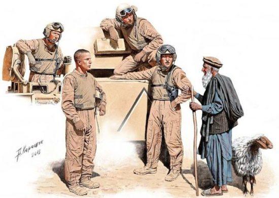 Masterbox Modern US tankmen in Afganistan