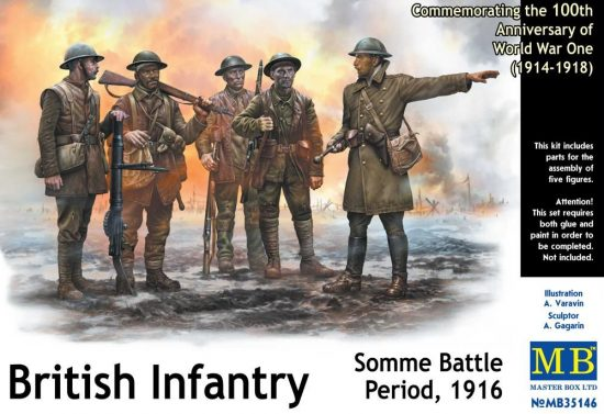 Masterbox British Infantry, Somme Battle Period, 1916