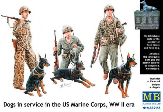 Masterbox Dogs in Service in the US Marine Corps