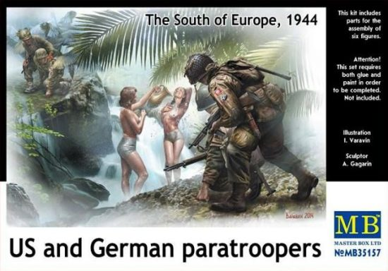 Masterbox US and German Paratroopers, 1944