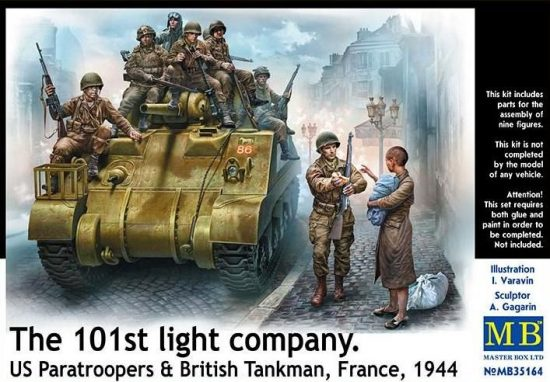 Masterbox The 101st light company. US Paratroopers & British Tankman