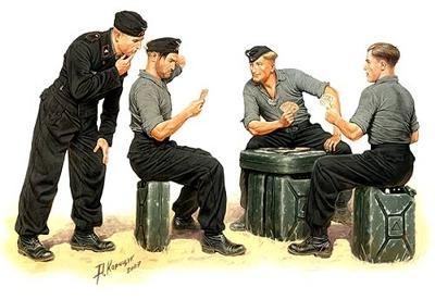 Masterbox German tank crew playing cards Die Skatspieler