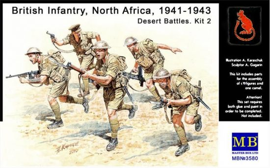 Masterbox British Infantry in action, Northern Africa
