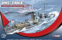 """Mirage HMS """"Zinnia"""" Flower-Class Corvette K98 makett"""