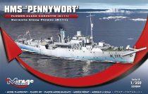 "Mirage HMS ""PENNYWORT""Flower-Class Corvette K111 makett"