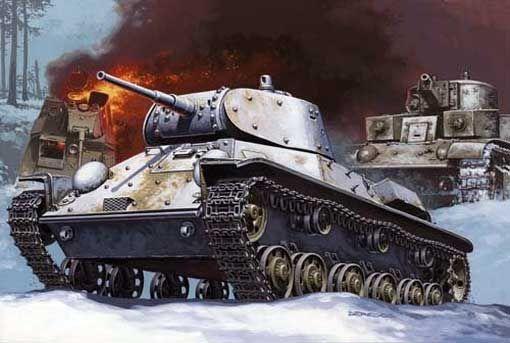 Mirage T-50 AA Russian Light Tank makett