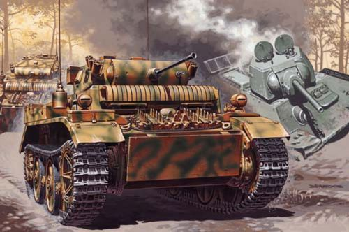Mirage Sd.Kfz.123 Light Scout Tank makett