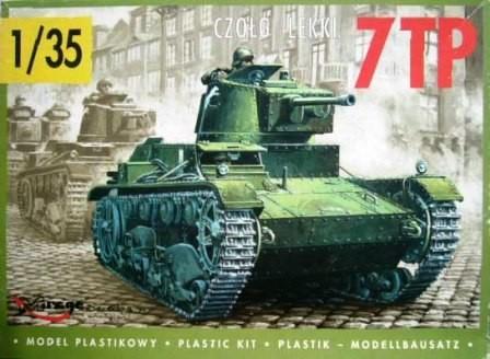 Mirage 7TP Polish Light Tank (Single Turret) makett