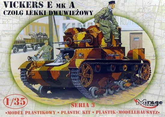 Mirage Vickers E mk A Tank Twin Turret makett