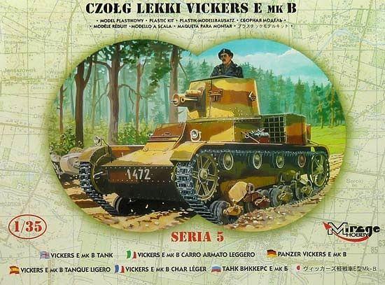 Mirage Vickers Light Tank E Mk.B makett