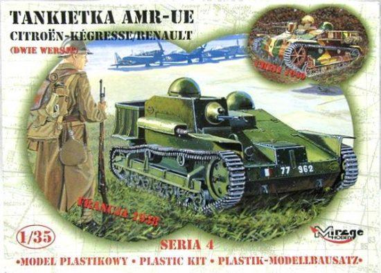 Mirage AMR UE French Tankette makett