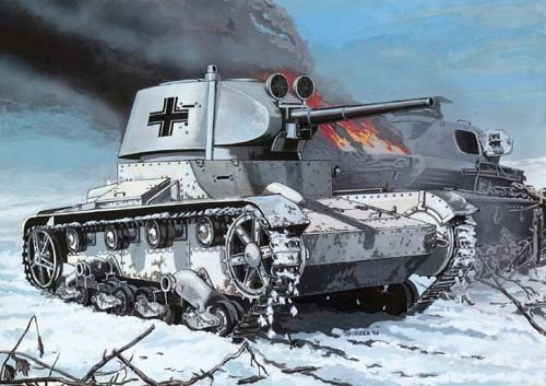Mirage T-26 model 37 Light Tank (Wehrmacht Service) makett