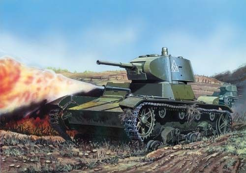 Mirage Russian OT-134/T26-C Flamethrower Tank makett
