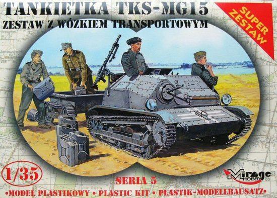Mirage TKS/MG 15 + Universal Transport Vehicle makett