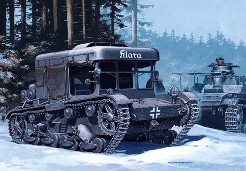 Mirage Klara C7P German Recovery Vehicle makett