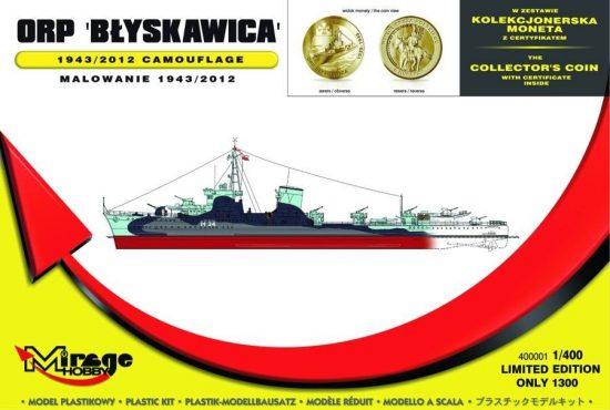 Mirage ORP 'Blyskawica' 1943/2012 Camouflage makett