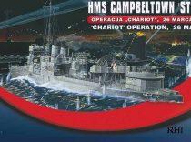 Mirage HMS Campbeltown 'St Nazaire' 'Chariot' Operation makett