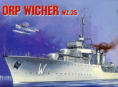 Mirage Destroyer ORP Wicher 1935 makett