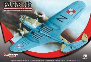 Mirage PZL P37B Los Bomber makett