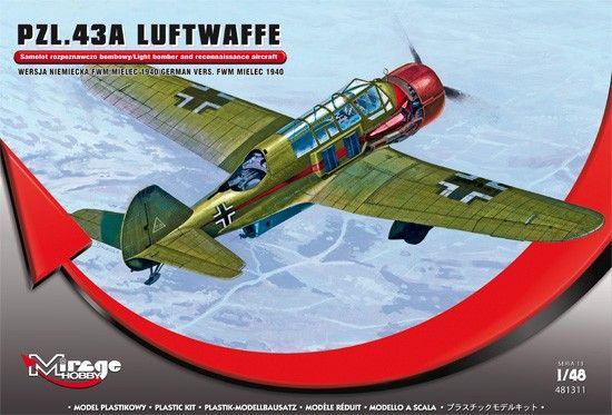 Mirage PZL.43A Luftwaffe Germ.Vers. MIELEC 1940 makett