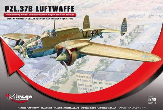 Mirage PZL.37B Luftwaffe Germ.Vers. Okecie 1940 makett