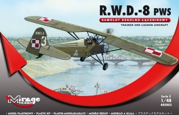 Mirage R.W.D.-8 (PWS) Trainer and Liaison Airc. makett