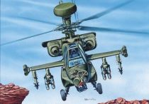 Mirage McDonnell Douglas WAH-64 Multi-Mission Combat Heli makett