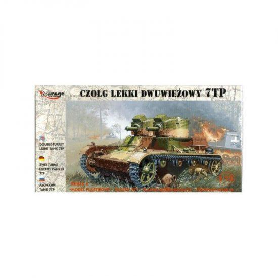 Mirage 7TP Polish light tank (twin turret) makett