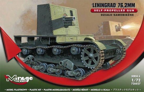 Mirage Leningrad 76.2mm Self-propelled Gun makett