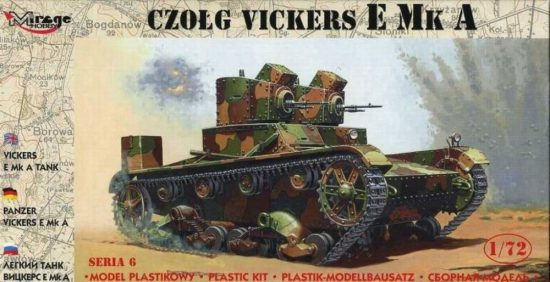 Mirage Light Tank Vickers E Mk A makett