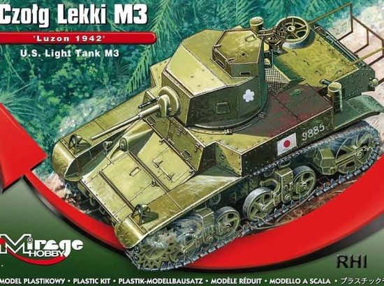 "Mirage U.S. Light Tank M3 ""Luzon 1942"" makett"