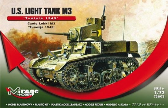 "Mirage U.S. Light Tank M3 ""Tunisia 1943"" makett"