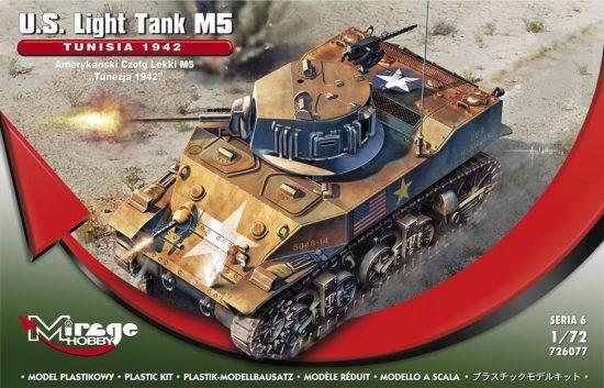 """Mirage U.S. Light Tank M5 """"TUNISIA 1942"""" makett"""