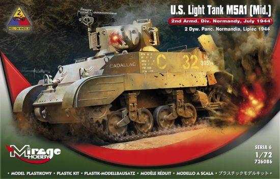Mirage U.S.Light Tank M5A1 (Mid) 2nd Armd.Div.N makett
