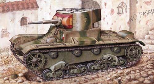 Mirage Light Tank T-26 1933 makett