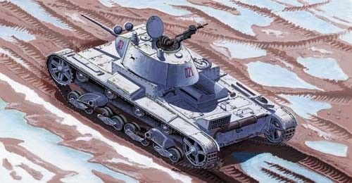 Mirage Light Tank T-26 C Model 1937 with 45 mm gun makett