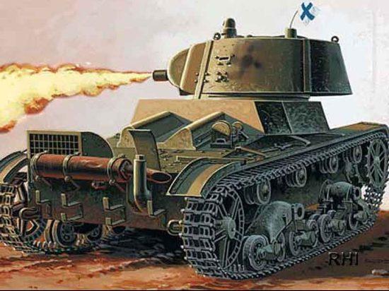 Mirage OT-133 Flame Thrower tank makett