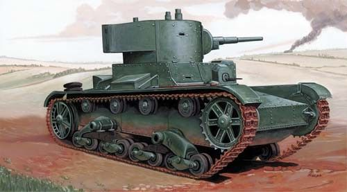 Mirage Light Tank T-26 LH/45 makett