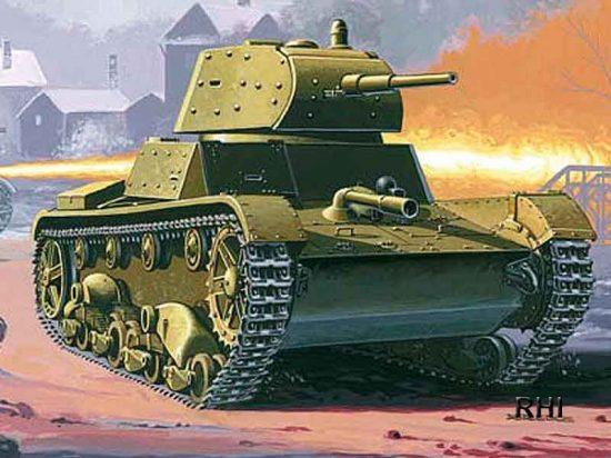 Mirage Russian Flamethrower Tank OT-134A makett