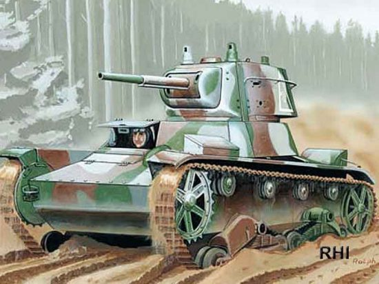Mirage Light Tank T-26 Finland-45 makett