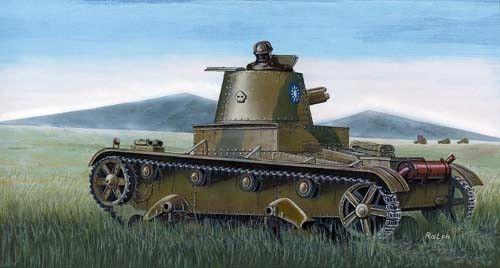 Mirage Chinese tank Vickers E Mk B makett