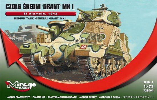 Mirage Panzer Grant Mk. I El Alamein makett