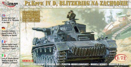 "Mirage Pz.Kpfw. IVD ""BLITZKRIEG in the WEST"" makett"